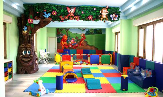 Aula gioco dell'asilo nido Collina degli Angeli a Reggio Calabria